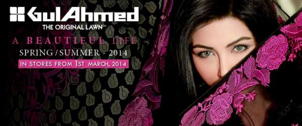Gul Ahmed: The Original Lawn Spring/Summer Collection 2014