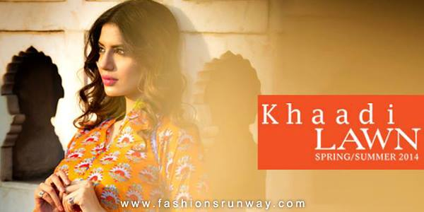 Khaadi Spring Summer Lawn Collection 2014 Pictures