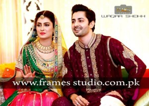 Aiza Khan and Danish Taimoor Mehndi Pics