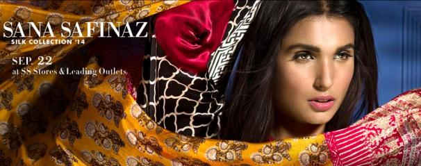 197a30d51a Sana Safinaz Silk Collection 2014 with Prices