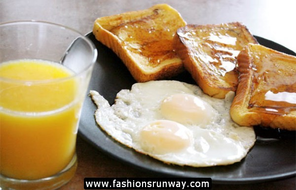 Eggs and Orange Juice for Healthy Life