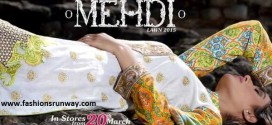 Mehdi Designer Embroidered Lawn Collection 2015