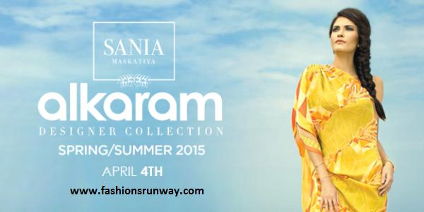 Sania Maskatiya Spring Summer Alkaram Collection 2015