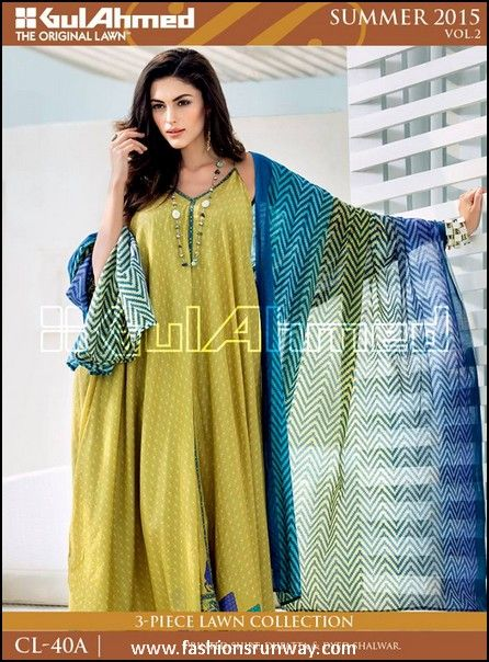 4bce45a264 Gul-Ahmed-Cotton-Lawn-Vol-2-Collection-2015-6 - Fashions Runway