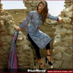 Gul Ahmed 3Piece Cambric Dresses 2015