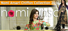 Nomi Ansari Chiffon Dresses 2016 with Prices