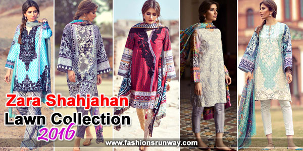 Zara Shahjahan Designer Lawn 2016 Collection with Price