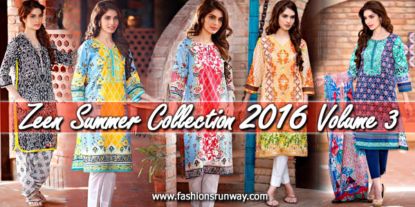 Zeen Lawn Collection 2016 Volume 3 for Women