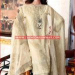BEIGE PREMIUM EMBROIDERED CHIFFON PM-145
