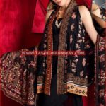 BLACK PREMIUM EMBROIDERED CHIFFON PM-129