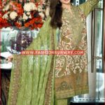 GREEN PREMIUM EMBROIDERED CHIFFON PM-121