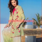 GREEN EMBROIDERED SINGLE SHIRT SL-278