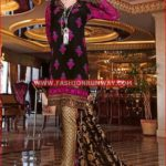 BLACK PREMIUM EMBROIDERED CHIFFON PM-136