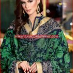 NAVY PREMIUM EMBROIDERED CHIFFON PM-144