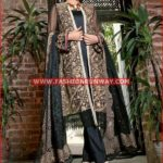 BLACK PREMIUM EMBROIDERED CHIFFON PM-139