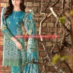 Gul Ahmed SEA GREEN TRENCIA SATIN SILK SS-123