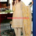 BEIGE PREMIUM EMBROIDERED CHIFFON PM-147