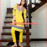 YELLOW PRINTED SINGLE SHIRT SL-294