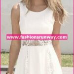 White Western Wear Casual Dress
