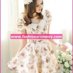 Flower Style Casual Dress Design