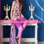 Gul Ahmed Midsummer 2016 PURPLE EMBROIDERED CAMBRIC CBE-28 B