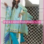 Gul Ahmed Midsummer 2016 SKY BLUE PRINTED CAMBRIC CBN-26 A