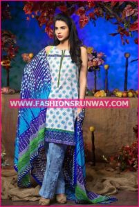 Gul Ahmed Midsummer 2016 BLUE PRINTED CAMBRIC CBN-01 A