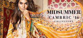 Gul Ahmed Midsummer Cambric Chiffon Collection 2016