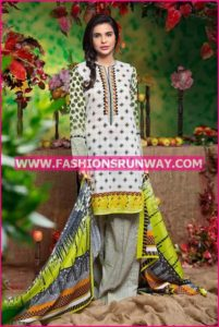 Gul Ahmed Midsummer 2016 GRAY PRINTED CAMBRIC CBN-01 B
