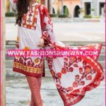 Gul Ahmed Midsummer 2016 RED PRINTED CAMBRIC CBN-10 A
