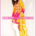 Gul Ahmed Midsummer 2016 YELLOW PRINTED CAMBRIC CBN-19 A