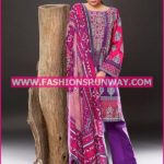 Gul Ahmed Midsummer 2016 PINK PRINTED CAMBRIC CBN-34 B