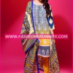Gul Ahmed Midsummer 2016 YELLOW PRINTED CAMBRIC CBN-34 A