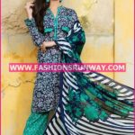 Gul Ahmed Midsummer 2016 NAVY BLUE PRINTED CAMBRIC CBN-12 A