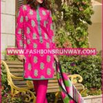 Gul Ahmed Midsummer 2016 PINK PRINTED CAMBRIC CBN-08 A