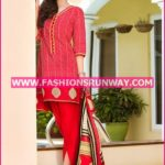 Gul Ahmed Midsummer 2016 RED PRINTED CAMBRIC CBN-07 A