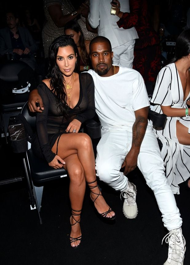 Kim Kardashian and Kanye West attend the 2016 MTV Music Video Awards at Madison Square Garden