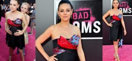 Mila Kunis Displays Baby Bump at Bad Moms Premiere