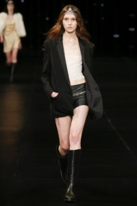 Saint Laurent Spring Collection 2016 - Model Monika Rush