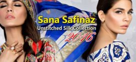 Sana Safinaz New Unstitch Silk Collection 2016 Designs